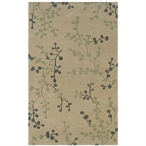 Rugs Rectangular Area Rug in Beige and Pale Blue