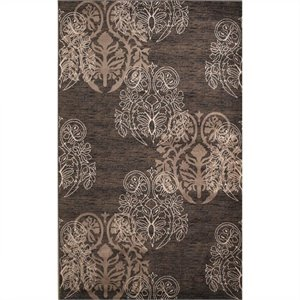 Rugs Rectangular Area Rug in Brown and Beige
