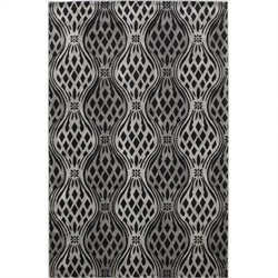 "Linon Rugs Milan Rectangular Area Rug in Black and Grey - 0.5"" H x 23"" W x 34"" D"