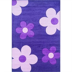 Rugs Kids Area Rug in Purple and Pink
