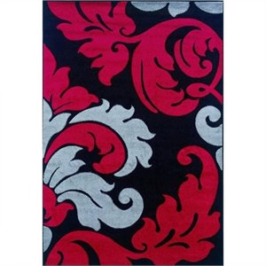 Rugs Kids Area Rug in Black and Red