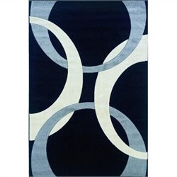 "Linon Rugs Corfu Kids Area Rug in Black and Grey - 0.5"" H x 23"" W x 34"" D"
