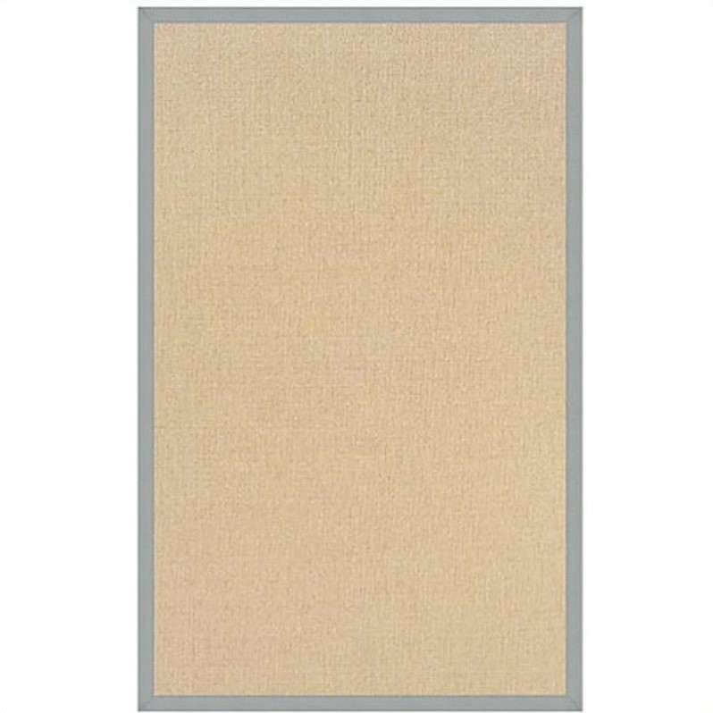 Linon Athena Cotton Rug in Natural and Ice Blue