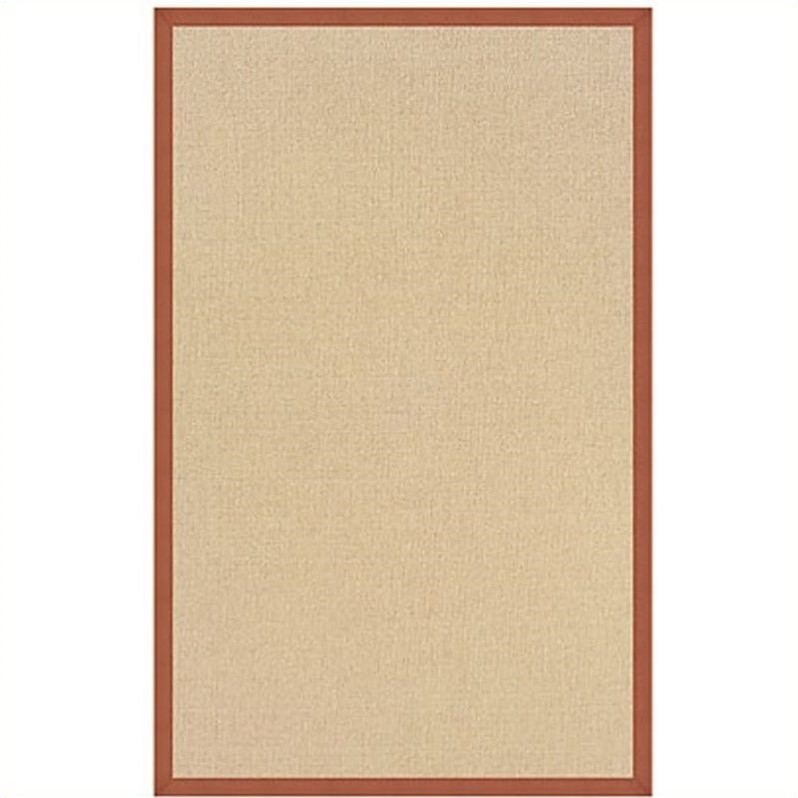 Linon Athena Cotton Rug in Natural and Burnt Orange