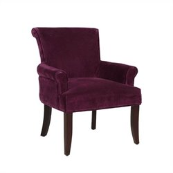 Linon Calla Microfiber Lounge Chair in Purple