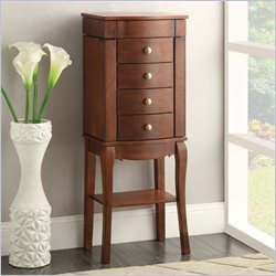 Linon Sophie Jewelry Armoire in Cherry