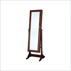 Linon Ruby Cheval Mirror in Cherry