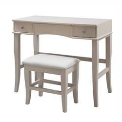 Linon Jackson Vanity Set in Cream Finish