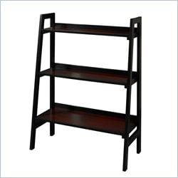 Three Shelf Bookcase in Black Cherry
