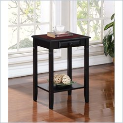 Linon Camden Accent Table in Black Cherry