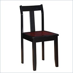 Linon Camden Dining Chair in Black Cherry