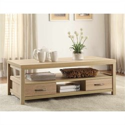 Linon Aspen Coffee Table in Blonde Finish