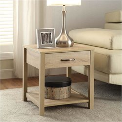 Linon Aspen End Table in Blonde Finish