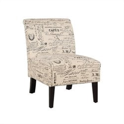 Linon Lily Chair in Script