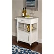 Linon Mitchell Wood Granite Top Kitchen Cart in White
