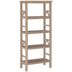 Linon Titian 4 Shelf Bookcase in Rustic Gray