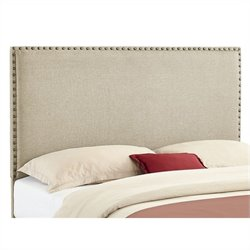 Linon Contempo Full/Queen Panel Headboard in Natural