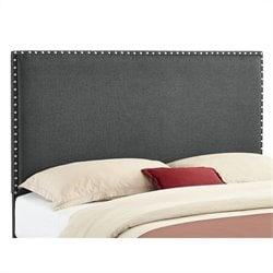 Linon Contempo Full/Queen Panel Headboard in Gray