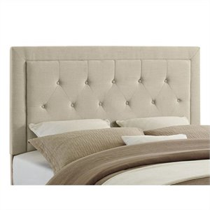 Full/Queen Tufted Panel Headboard in Natural