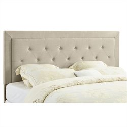 King Tufted Panel Headboard in Natural