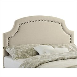 Linon Regency Full Queen Upholstered Headboard in Natural