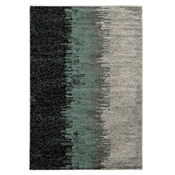 Linon Elegance Lave 2' x 3' Rug in Blue