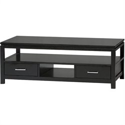 Linon Sutton Contemporary Coffee Table in Black