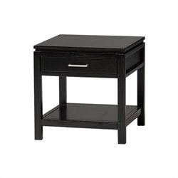 Linon Sutton Black Wood End Table