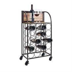 Linon Wine Rack in Black