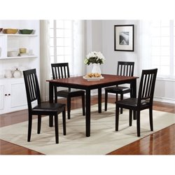 Linon Cayman Rectangular Wood Dining Table in Walnut