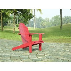 Linon Adirondack Chair in Red