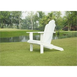 Linon Adirondack Chair in White
