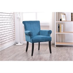 Linon Calla Accent Chair in Dark Blue