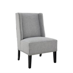 Linon Maggie Accent Chair in Gray