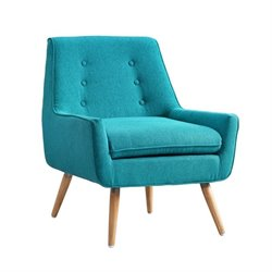 Linon Trelis Accent Chair in Bright Blue