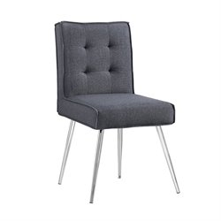 Accent Chair in Dark Gray (Set of 2)