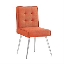 Linon Astra Accent Chair in Orange (Set of 2)