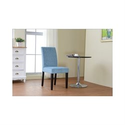 Linon Upton Parsons Accent Chair in Blue (Set of 2)
