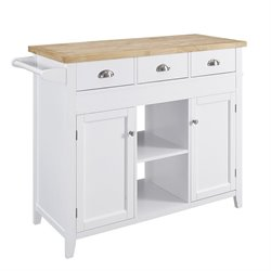 Linon Sheridan Kitchen Island in White