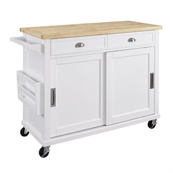 Linon Sherman Kitchen Island in White