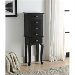 Jewelry Armoire in Black