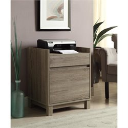 Linon Tracey Filing Cabinet in Gray