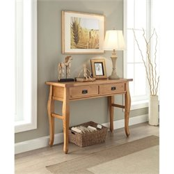 Linon Santa Fe Two Drawer Console Table in Antique Brown