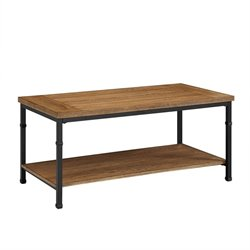 Linon Austin Ash Veneer Top Coffee Table in Black