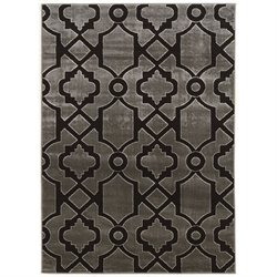 Linon Elegance 8' x 10' Rugs in Grey and Black