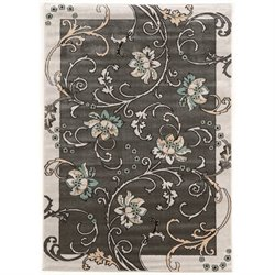 Linon Elegance 2' x 3' Rugs in Grey and Charcoal