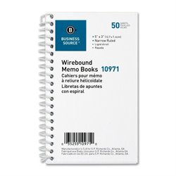 Bus. Source Side Wirebound Ruled Memo Book