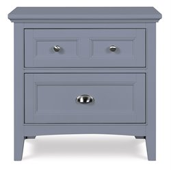 Magnussen Graylyn 2 Drawer Nightstand in Steel Drum