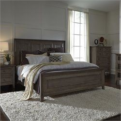 Magnussen Talbot Queen Panel Bed in Driftwood