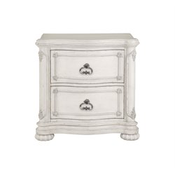 Magnussen Davenport 2 Drawer Nightstand in Weathered Parchment